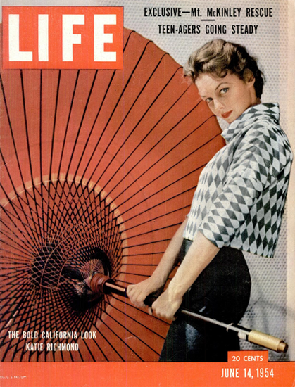 Katie Richmond California Look 14 Jun 1954 Copyright Life Magazine | Life Magazine Color Photo Covers 1937-1970