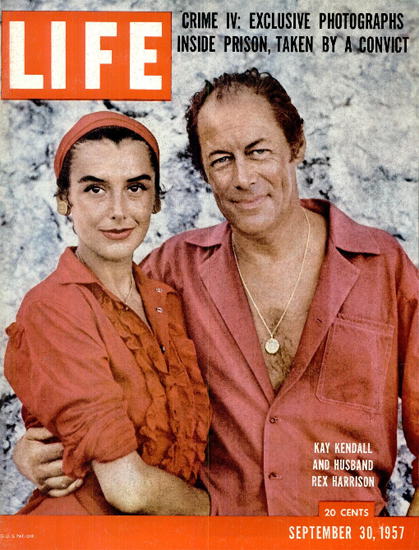 Kay Kendall Husband Rex Harrison 30 Sep 1957 Copyright Life Magazine | Life Magazine Color Photo Covers 1937-1970