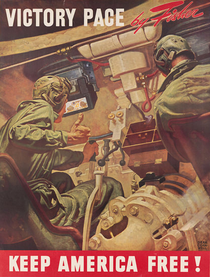 Keep America Free Victory Page Fisher | Vintage War Propaganda Posters 1891-1970