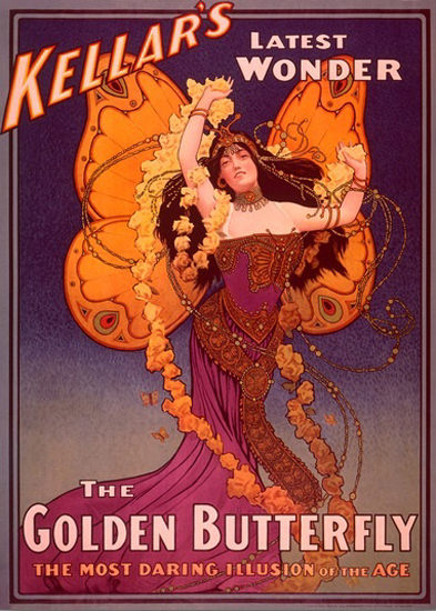 Kellars Latest Wonder The Golden Butterfly Art | Sex Appeal Vintage Ads and Covers 1891-1970