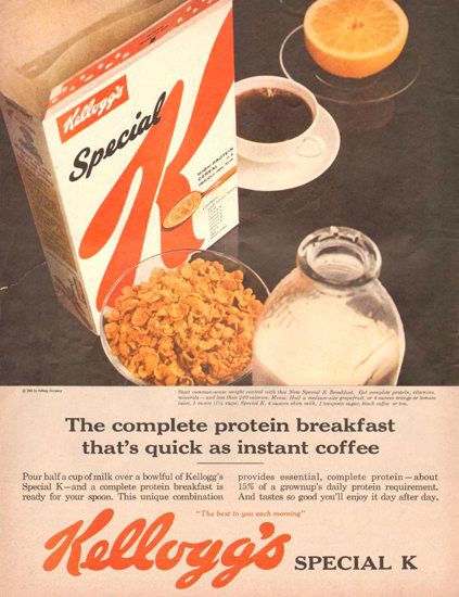 Kelloggs Special K 1961 | Vintage Ad and Cover Art 1891-1970