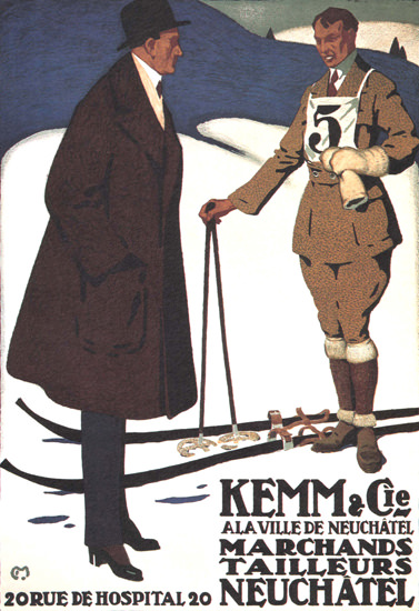 Kemm Marchands Neuchatel Suisse | Vintage Ad and Cover Art 1891-1970