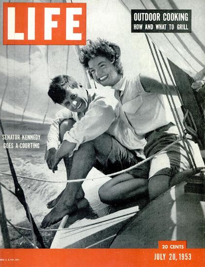 Kennedy Jacqueline Jackie Bouvier 20 Jul 1953 Copyright Life Magazine   Life Magazine BW Photo Covers 1936-1970
