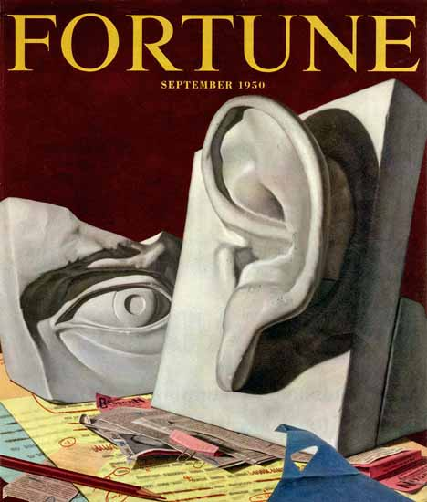 Kenneth Davies Fortune Magazine September 1950 Copyright   Fortune Magazine Graphic Art Covers 1930-1959