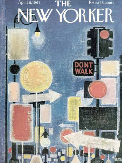 Kenneth Mahood The New Yorker 1961_04_08 Copyright | The New Yorker Graphic Art Covers 1946-1970