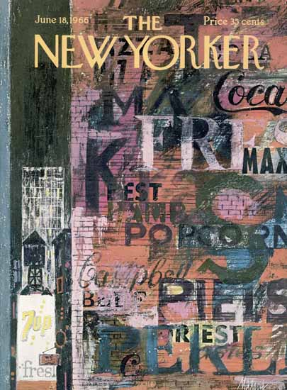 Kenneth Mahood The New Yorker 1966_06_18 Copyright | The New Yorker Graphic Art Covers 1946-1970