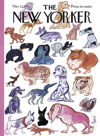 Kenneth Mahood The New Yorker 1970_03_21 Copyright | The New Yorker Graphic Art Covers 1946-1970
