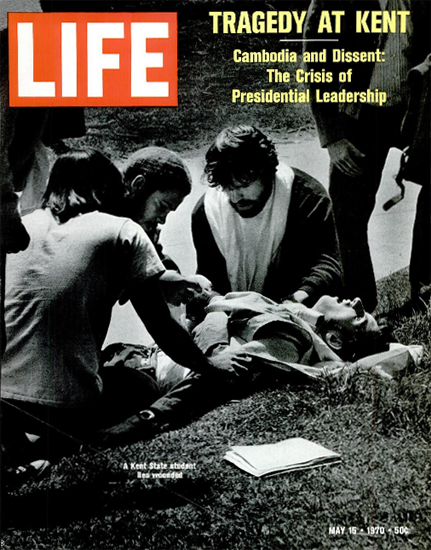 Kent State Shootings hit Student 15 May 1970 Copyright Life Magazine | Life Magazine BW Photo Covers 1936-1970