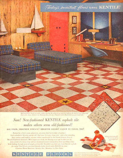 Kentile Floors 1957 | Vintage Ad and Cover Art 1891-1970