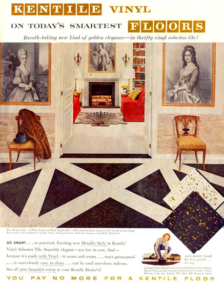 Kentile Vinyl Floors 1959 | Vintage Ad and Cover Art 1891-1970