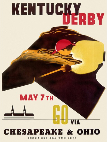Kentucky Derby Chesapeake Ohio Horse Racing | Vintage Ad and Cover Art 1891-1970
