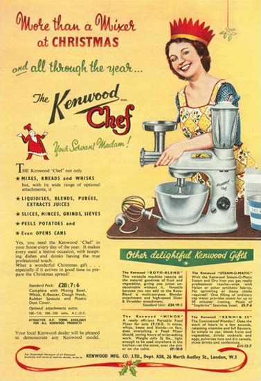 Kenwood Chef Kitchen London More Than Mixer | Vintage Ad and Cover Art 1891-1970