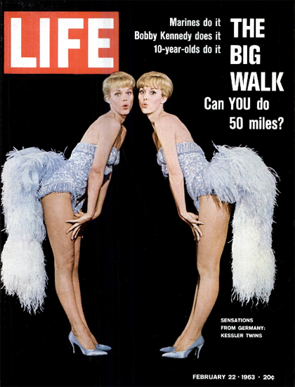 Kessler Twins from Germany 22 Feb 1963 Copyright Life Magazine | Life Magazine Color Photo Covers 1937-1970