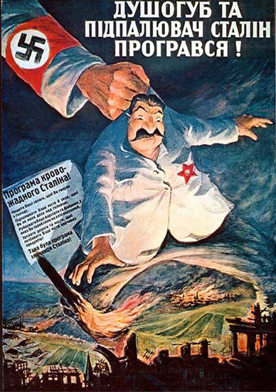 Killer And Arsonist Stalin Lost Ukrainian | Vintage War Propaganda Posters 1891-1970