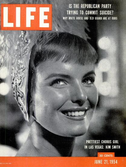Kim Smith Chorus Girl in Las Vegas 21 Jun 1954 Copyright Life Magazine | Life Magazine BW Photo Covers 1936-1970
