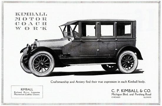 Kimball Limousine On Cadillac Chassis 1922 | Vintage Cars 1891-1970