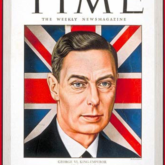 King George VI Time Magazine 1944-02 by Boris Artzybasheff crop | Best of Vintage Cover Art 1900-1970