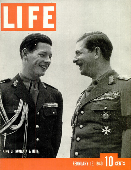 King of Rumania and Heir 19 Feb 1940 Copyright Life Magazine | Life Magazine BW Photo Covers 1936-1970