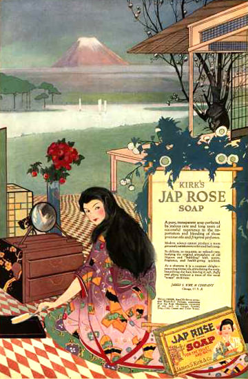 Kirks Jap Rose Soap 1918 | Sex Appeal Vintage Ads and Covers 1891-1970