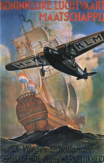Koninklijke Luchtvaart Maatschappij Netherlands | Vintage Travel Posters 1891-1970