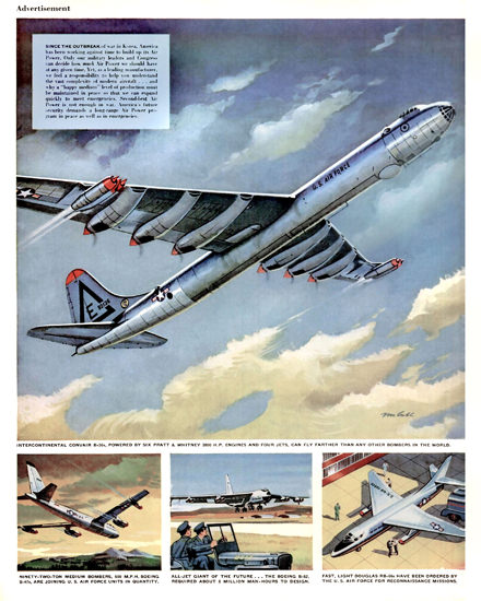 Korean War Air Fleet B-47 B-52 RB-66 | Vintage War Propaganda Posters 1891-1970