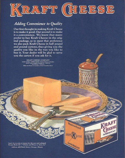 Kraft Cheese American Chicago | Vintage Ad and Cover Art 1891-1970