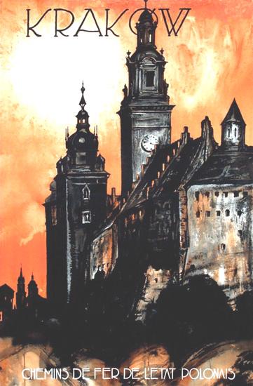 Krakow Poland 1930s Stefan Norblin | Vintage Travel Posters 1891-1970