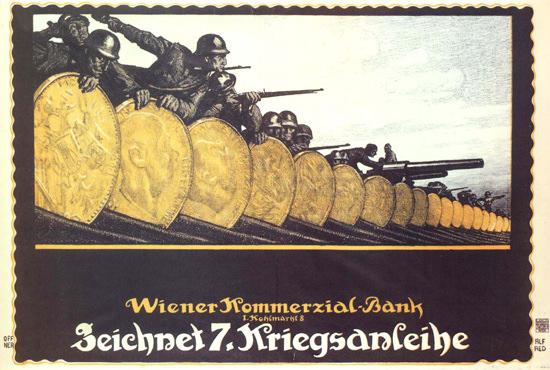 Kriegsanleihe Wiener Kommerzial-Bank Wien   Vintage War Propaganda Posters 1891-1970