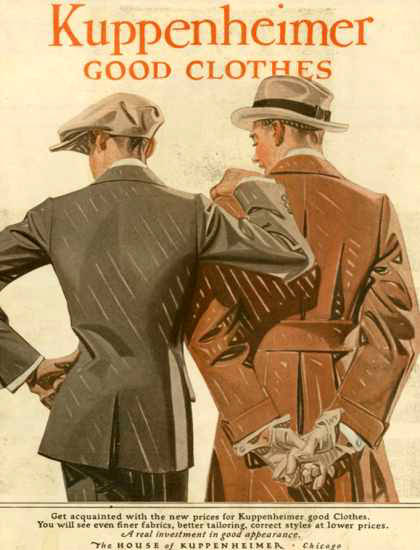 Kuppenheimer Good Clothes Suits Chicago 1910 | Sex Appeal Vintage Ads and Covers 1891-1970