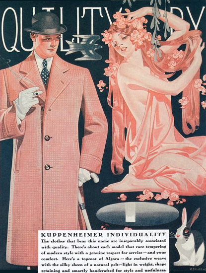 Kuppenheimer Menswear Chicago 1929 | Sex Appeal Vintage Ads and Covers 1891-1970