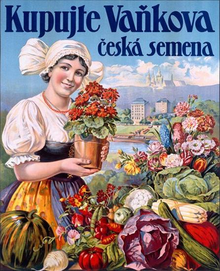 Kupujte Vankova Ceska Semena Woman Flowers   Vintage Ad and Cover Art 1891-1970