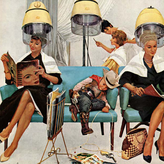 Kurt Ard Saturday Evening Post Asleep 1961_05_06 Copyright crop | Best of Vintage Cover Art 1900-1970