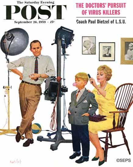 Kurt Ard Saturday Evening Post At the Photographer 1959_09_26 | The Saturday Evening Post Graphic Art Covers 1931-1969