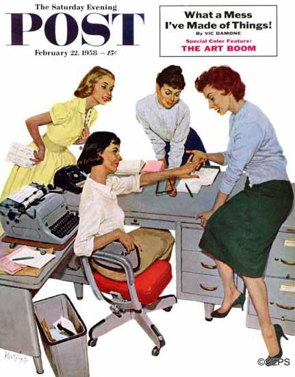 Kurt Ard Saturday Evening Post Engagement Ring 1958_02_22 | The Saturday Evening Post Graphic Art Covers 1931-1969