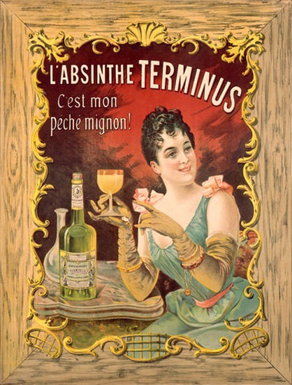 L Absinthe Terminus C Est Mon Peche Mignon | Sex Appeal Vintage Ads and Covers 1891-1970