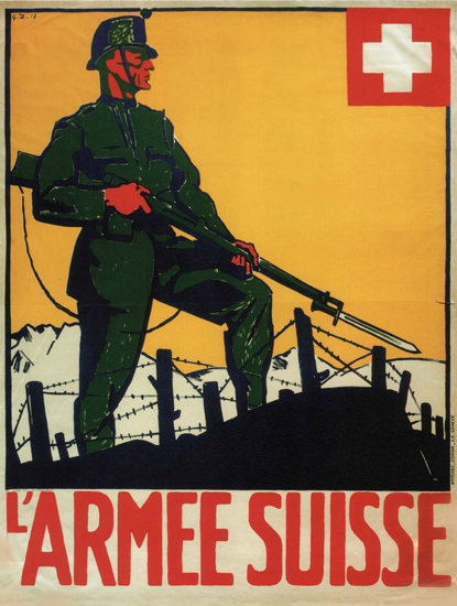 L Armee Suisse 1918 Switzerland Schweiz Suisse | Vintage War Propaganda Posters 1891-1970