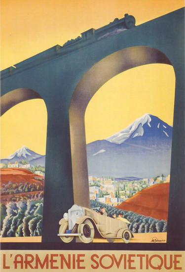 L Armenie Sovietique | Vintage Travel Posters 1891-1970