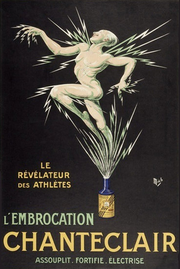 L Embrocation Chanteclair Revelateur Athletes | Sex Appeal Vintage Ads and Covers 1891-1970