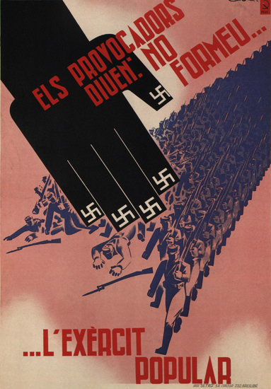L Exercit Popular Spain Espana | Vintage War Propaganda Posters 1891-1970