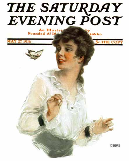 L Mayer Saturday Evening Post Cover Art 1916_05_27 | The Saturday Evening Post Graphic Art Covers 1892-1930