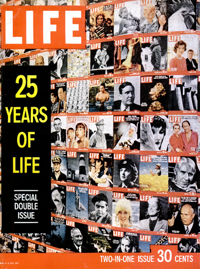 LIFE is 25 Years old Special Issue 26 Dec 1960 Copyright Life Magazine | Life Magazine Color Photo Covers 1937-1970