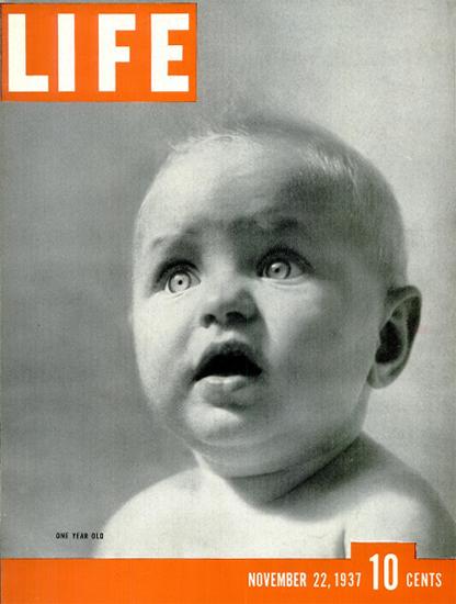 LIFE is one Year old 22 Nov 1937 Copyright Life Magazine | Life Magazine BW Photo Covers 1936-1970