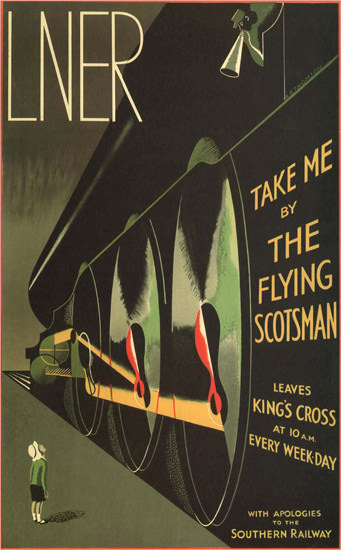 LNER Take Me By The Flying Scotsman UK | Vintage Travel Posters 1891-1970