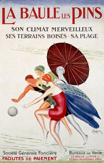 La Baule Les Pins Plage Beach Life France | Sex Appeal Vintage Ads and Covers 1891-1970