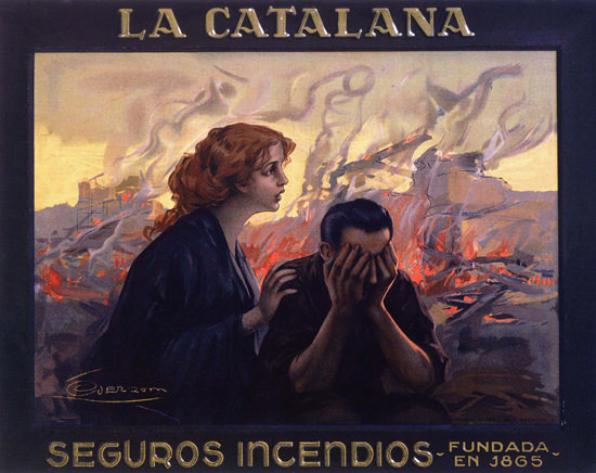 La Catalana Seguros Incendios Spain Espana | Vintage Ad and Cover Art 1891-1970