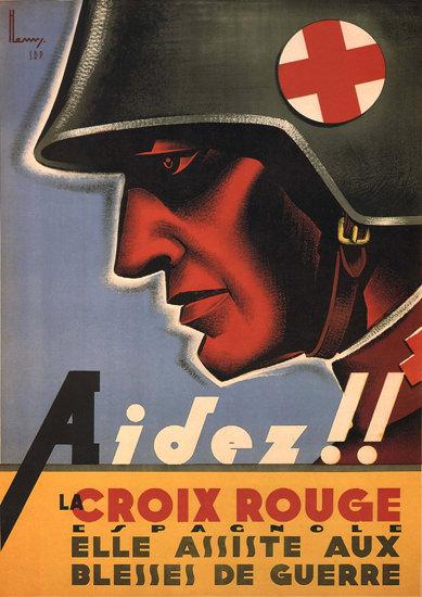 La Croix Rouge Espagnole Spain Espana | Vintage War Propaganda Posters 1891-1970