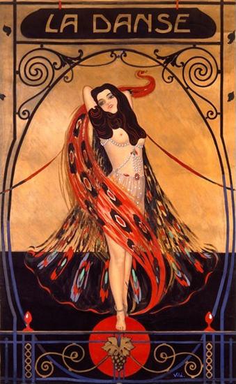 La Danse Art Nouveau Emilio Vila | Sex Appeal Vintage Ads and Covers 1891-1970