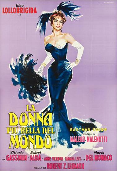 La Donna Piu Bella Del Mondo G Lollobrigida 1955   Sex Appeal Vintage Ads and Covers 1891-1970