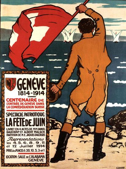 La Fete Du Juin Geneve 1914 Suisse | Vintage Ad and Cover Art 1891-1970