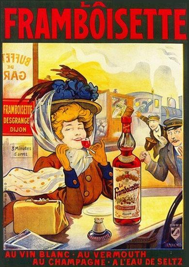 La Framboisette Desgrange Dijon Au Vin Blanc | Sex Appeal Vintage Ads and Covers 1891-1970